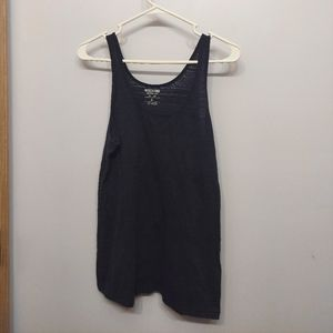 Mossimo navy blue tank top textured basic layering